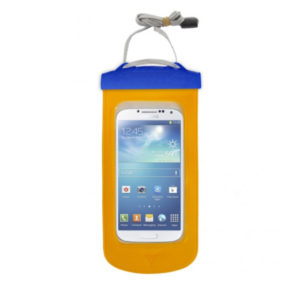 E-merse waterproof phone case in yellow image.