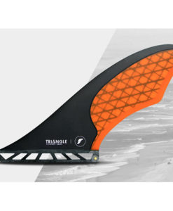 Futures Fins small Triangle fin in orange and black