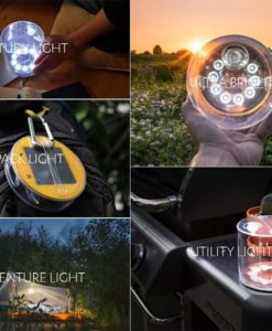 Multiple pictures of the Luci Original solar light.