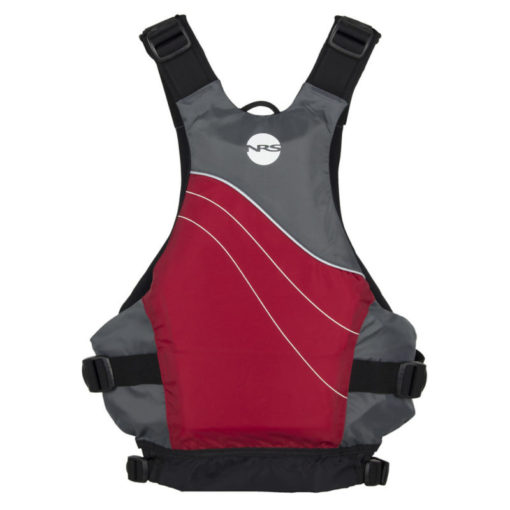 NRS Vapor life jacket back in red.