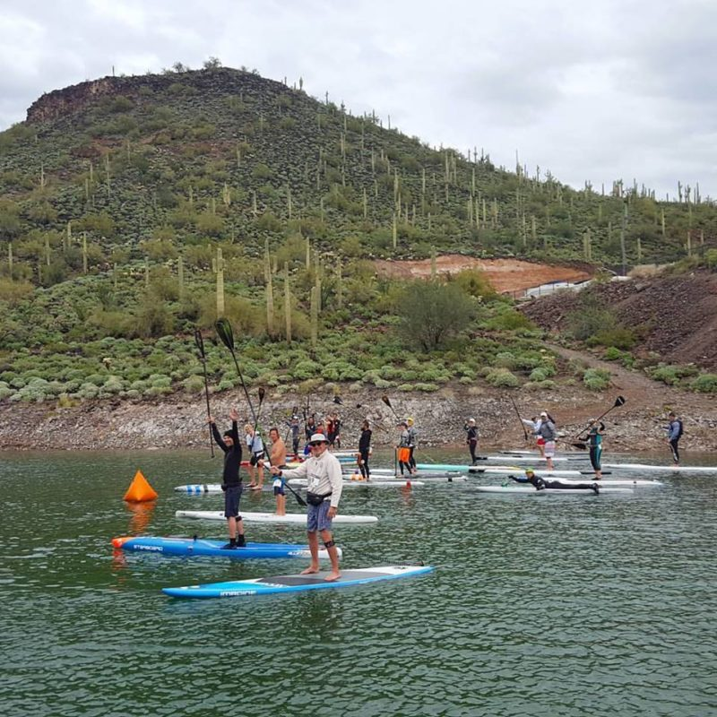 AYC Racers on the water waiting to race at Lake Pleasant
