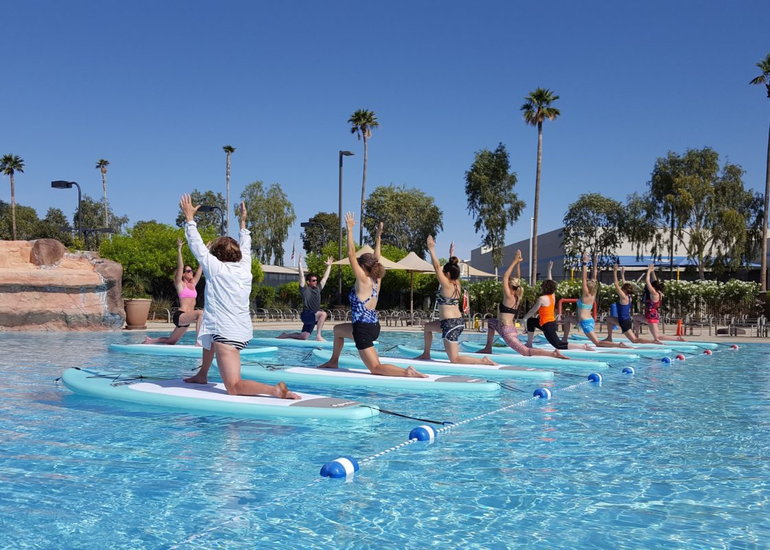 Lifetime Fitness Tempe SUP Yoga