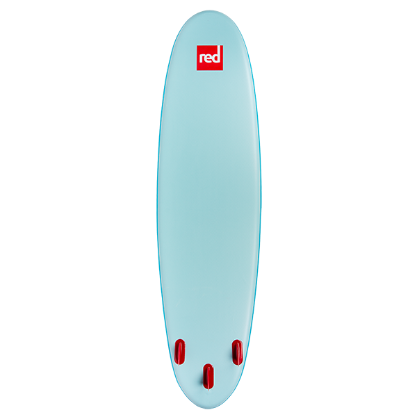 "Red Paddle Co 10'6"" Ride MSL inflatable paddleboard bottom view image"