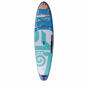 Top view of the Starboard Tikhine Wave inflatable SUP