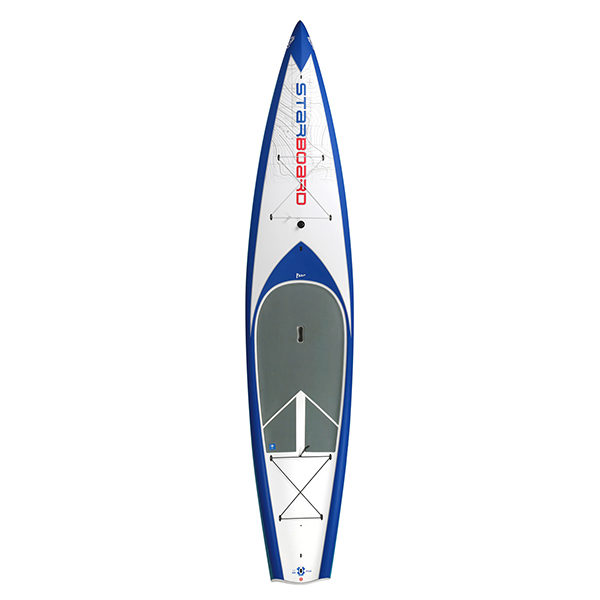 """Starboard SUP Tourning white with blue trim 12'6"""" x 29"""" Starlite"""
