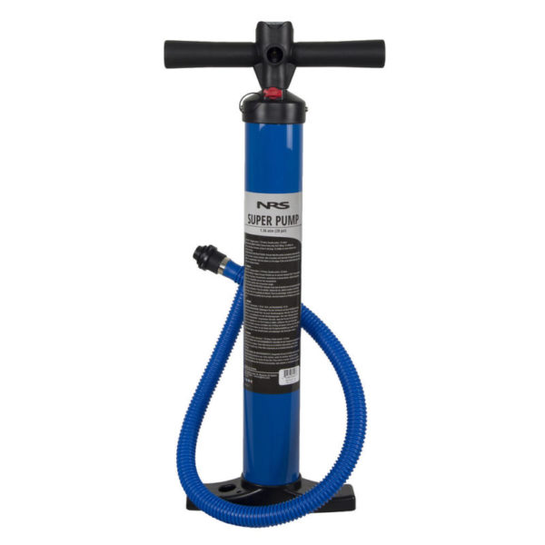 NRS Super Pump main product image in blue and psi gauge located on the top.