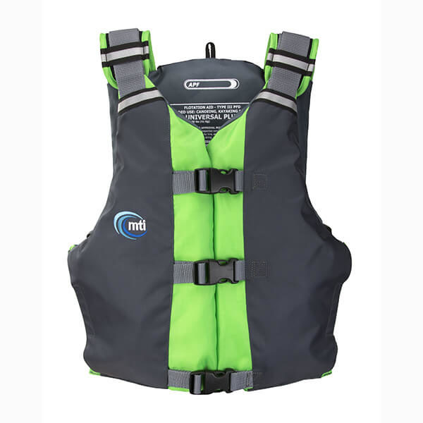 MTI APF Universal life jacket front in green/