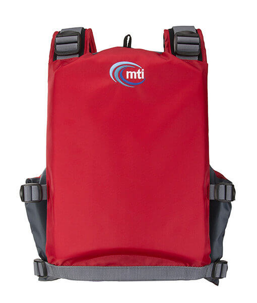 MTI APF Universal life jacket back in red.