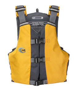 MTI APF Universal life jacket front in mango.