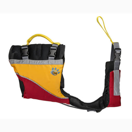 MTI UnderDog canine red and mango life preserver.