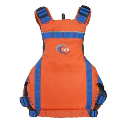 The MTI Vibe PFD in orange back view.