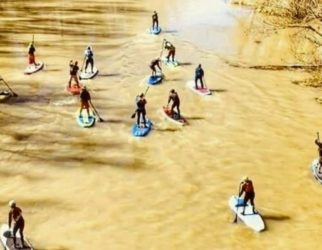 Verde River paddleboard and kayak race in Camp Verde with Riverbound Sports