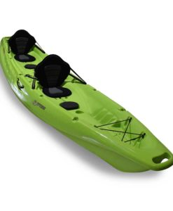3 Waters kayaks T42 in lime at an angle.